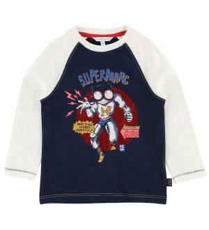 Little Marc Jacobs T-shirt - Hvid/Navy m. Superhelt