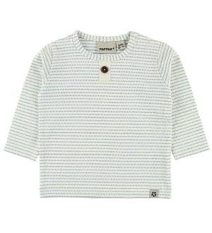 Papfar Bluse - Creme/Blå stribet