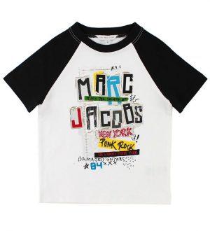 Little Marc Jacobs T-shirt - Hvid/Sort m. Print